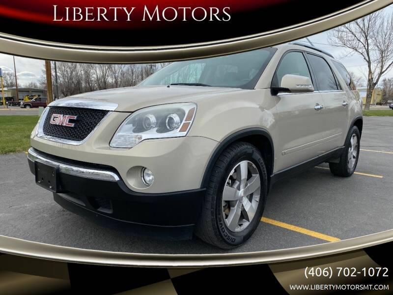 2009 GMC Acadia for sale at Liberty Motors in Billings MT