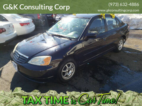 2003 Honda Civic for sale at G&K Consulting Corp in Fair Lawn NJ