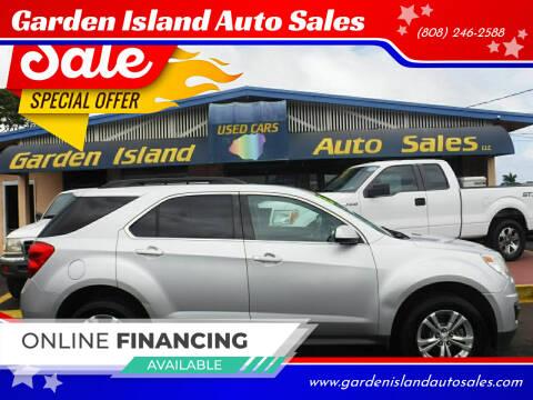 2013 Chevrolet Equinox for sale at Garden Island Auto Sales in Lihue HI