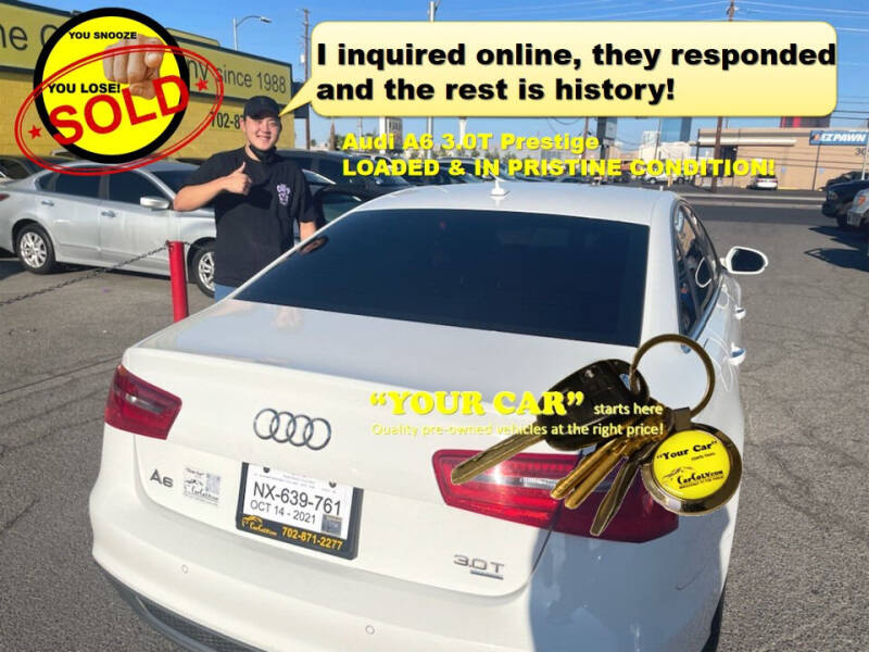2013 Audi A6 for sale at The Car Company in Las Vegas NV