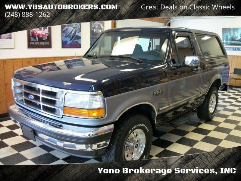 1994 Ford Bronco for sale at Yono Brokerage Services, INC in Farmington MI