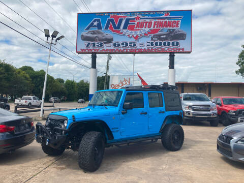 2018 Jeep Wrangler JK Unlimited for sale at ANF AUTO FINANCE in Houston TX