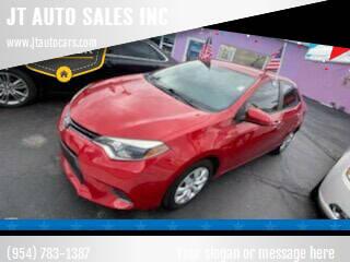 2016 Toyota Corolla for sale at JT AUTO SALES INC in Oakland Park FL