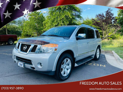 2012 Nissan Armada for sale at Freedom Auto Sales in Chantilly VA