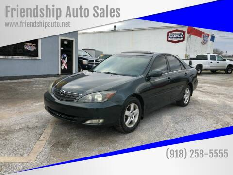 2002 Toyota Camry for sale at Friendship Auto Sales in Broken Arrow OK