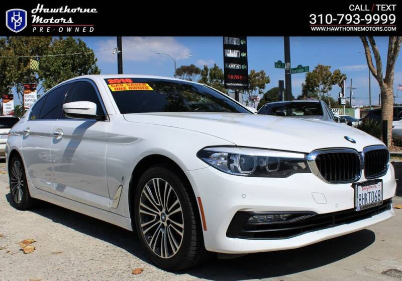 2018 BMW 5 Series for sale at Hawthorne Motors Pre-Owned in Lawndale CA