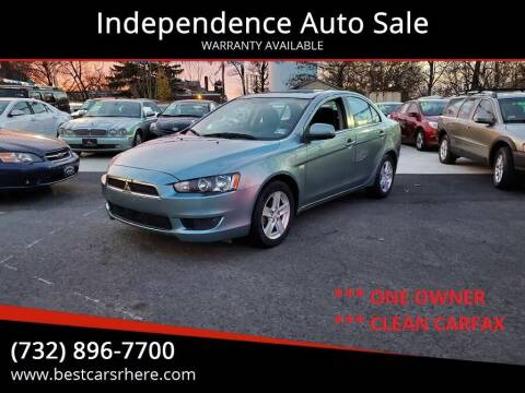2008 Mitsubishi Lancer for sale at Independence Auto Sale in Bordentown NJ