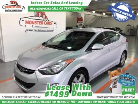 2013 Hyundai Elantra for sale at Monster Cars in Pompano Beach FL