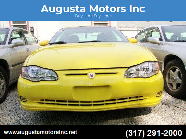 2002 Chevrolet Monte Carlo for sale at Augusta Motors Inc in Indianapolis IN