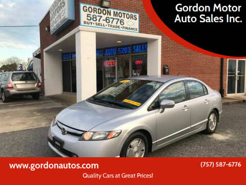 2006 Honda Civic for sale at Gordon Motor Auto Sales Inc. in Norfolk VA