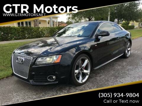 2010 Audi A5 for sale at GTR Motors in Davie FL