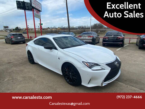 2015 Lexus RC 350 for sale at Excellent Auto Sales in Grand Prairie TX