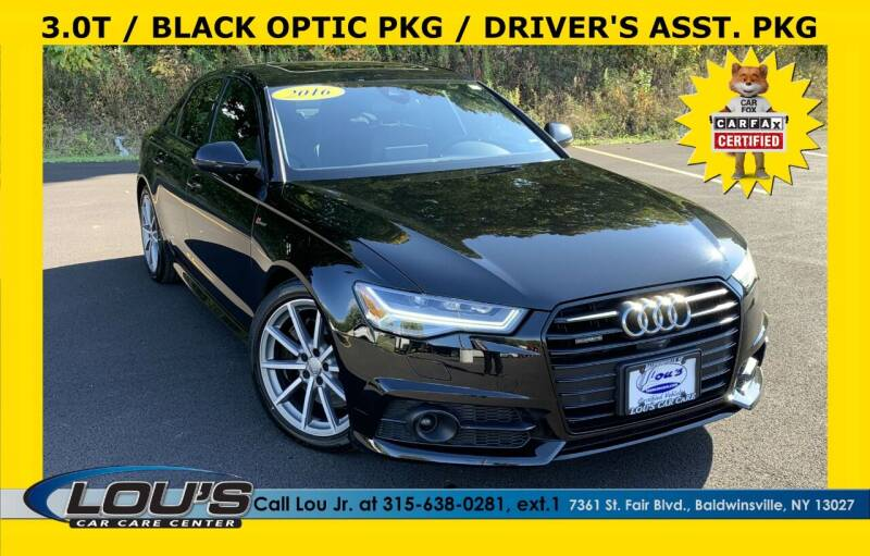 2016 Audi A6 for sale at LOU'S CAR CARE CENTER in Baldwinsville NY