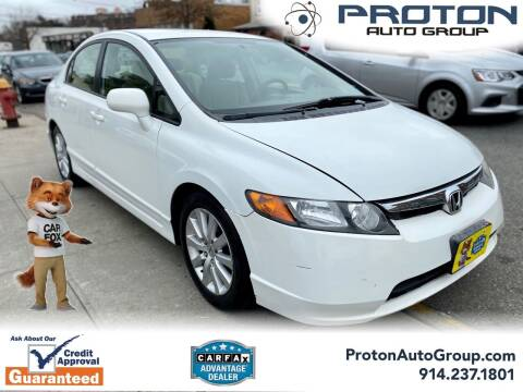 2007 Honda Civic for sale at Proton Auto Group in Yonkers NY
