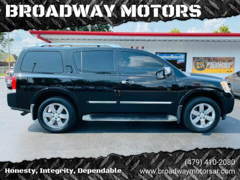 2012 Nissan Armada for sale at BROADWAY MOTORS in Van Buren AR