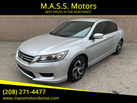 2013 Honda Accord for sale at M.A.S.S. Motors - Emerald in Boise ID