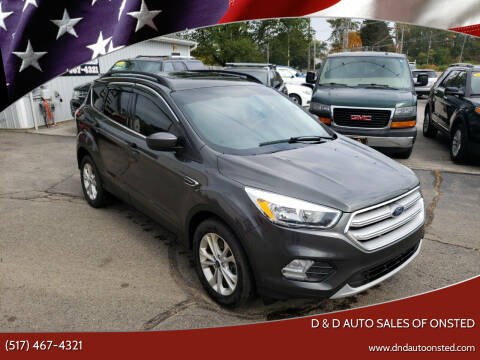 2018 Ford Escape for sale at D & D Auto Sales Of Onsted in Onsted   Brooklyn MI