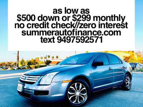 2006 Ford Fusion for sale at SUMMER AUTO FINANCE in Costa Mesa CA
