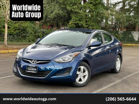 2015 Hyundai Elantra for sale at Worldwide Auto Group in Auburn WA