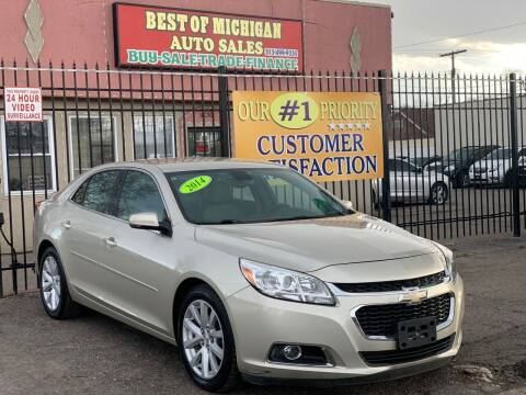 2014 Chevrolet Malibu for sale at Best of Michigan Auto Sales in Detroit MI