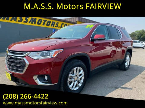 2020 Chevrolet Traverse for sale at M.A.S.S. Motors - Fairview in Boise ID