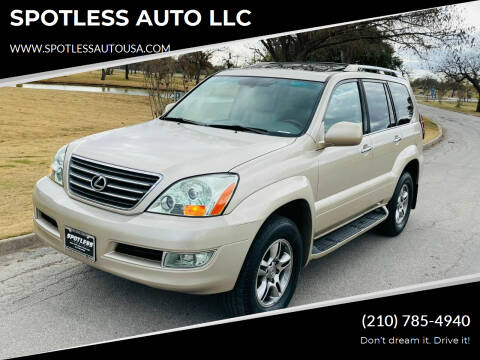 2008 Lexus GX 470 for sale at SPOTLESS AUTO LLC in San Antonio TX
