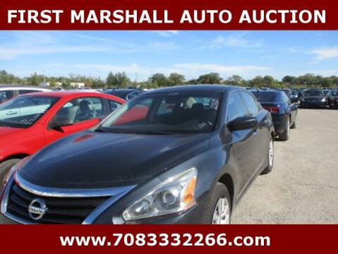 2015 Nissan Altima for sale at First Marshall Auto Auction in Harvey IL