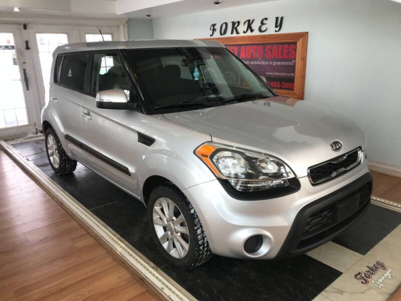2012 Kia Soul for sale at Forkey Auto & Trailer Sales in La Fargeville NY