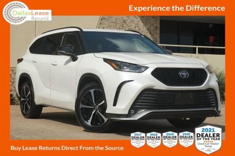 2021 Toyota Highlander for sale at Dallas Auto Finance in Dallas TX