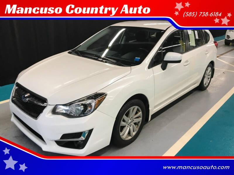 2015 Subaru Impreza for sale at Mancuso Country Auto in Batavia NY