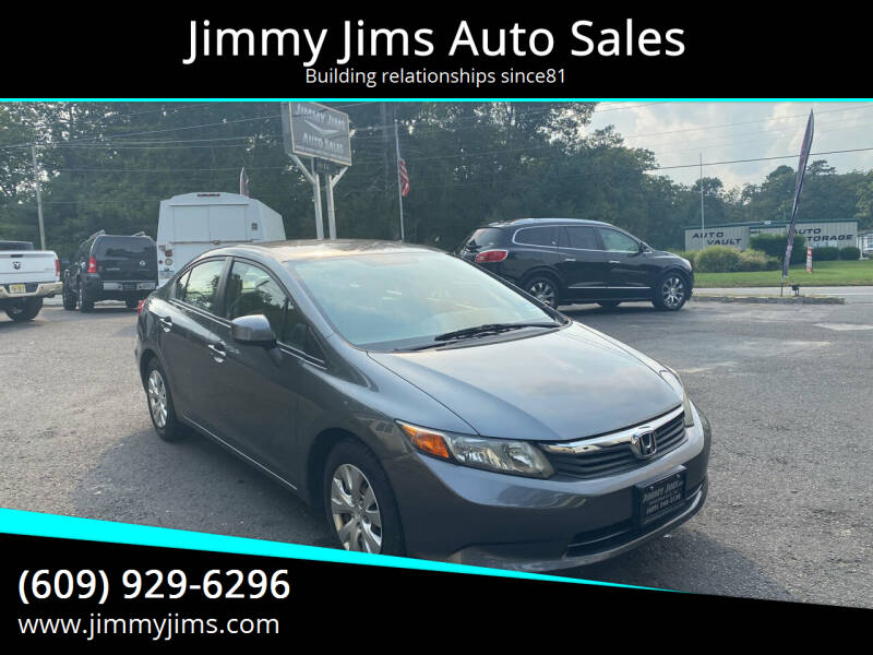 2012 Honda Civic for sale at Jimmy Jims Auto Sales in Tabernacle NJ