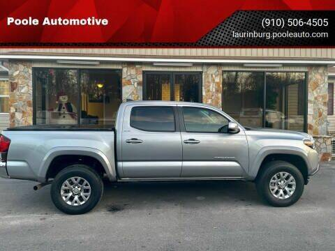 2018 Toyota Tacoma for sale at Poole Automotive in Laurinburg NC
