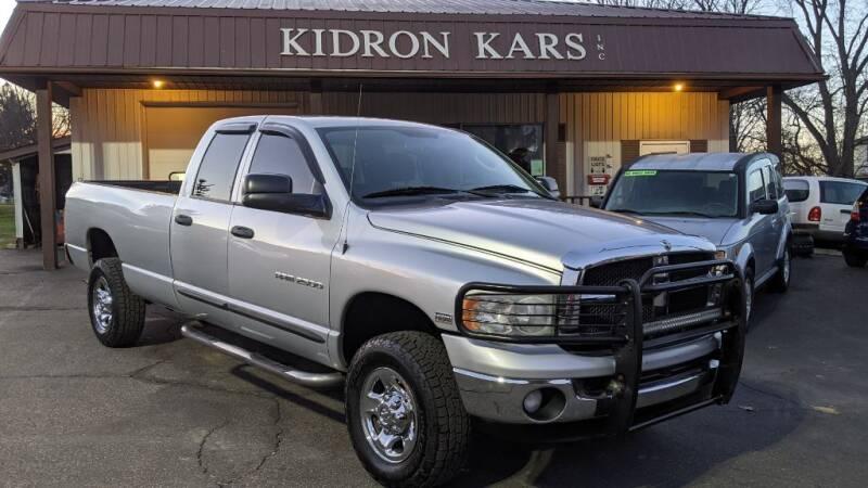 2004 Dodge Ram Pickup 2500 for sale at Kidron Kars INC in Orrville OH