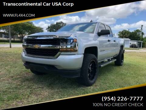 2017 Chevrolet Silverado 1500 for sale at Transcontinental Car USA Corp in Fort Lauderdale FL