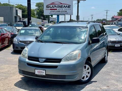 2004 Toyota Sienna for sale at Supreme Auto Sales in Chesapeake VA