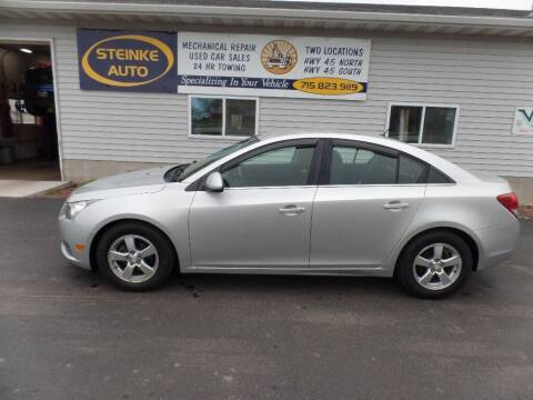 2012 Chevrolet Cruze for sale at STEINKE AUTO INC. - Steinke Auto Inc (South) in Clintonville WI