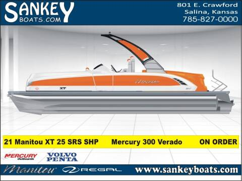 2021 Manitou 25 XT SRS SHP for sale at SankeyBoats.com in Salina KS