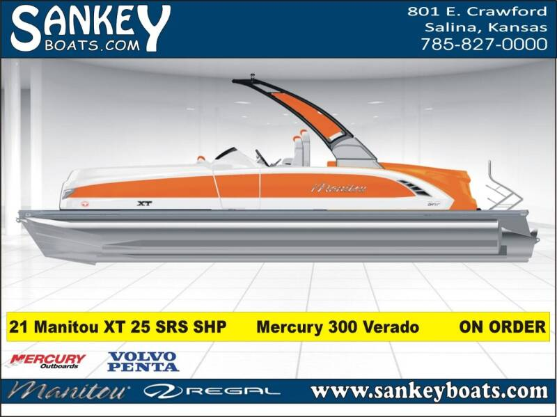2021 Manitou 25 XT SRS SHP for sale at SankeyBoats.com in Salina KS