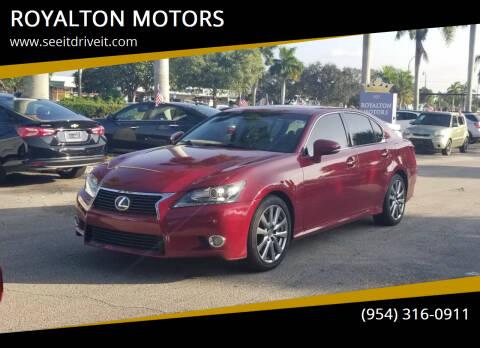 2013 Lexus GS 350 for sale at ROYALTON MOTORS in Plantation FL