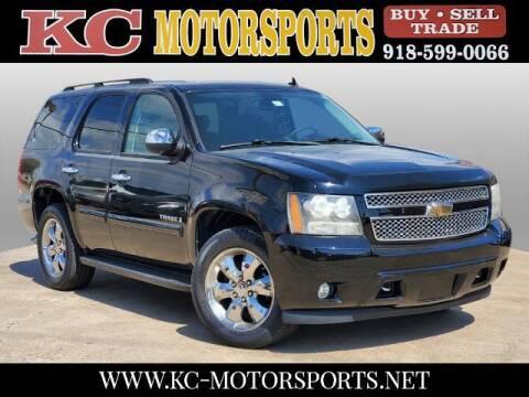 2008 Chevrolet Tahoe for sale at KC MOTORSPORTS in Tulsa OK