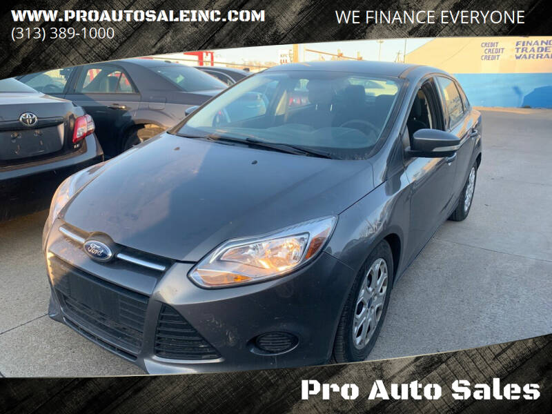 2014 Ford Focus for sale at Pro Auto Sales in Lincoln Park MI