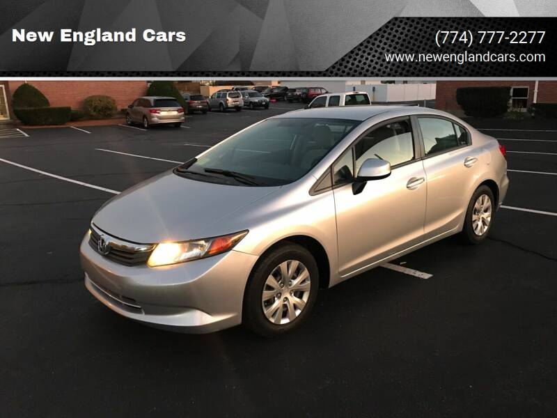 2012 Honda Civic for sale at New England Cars in Attleboro MA