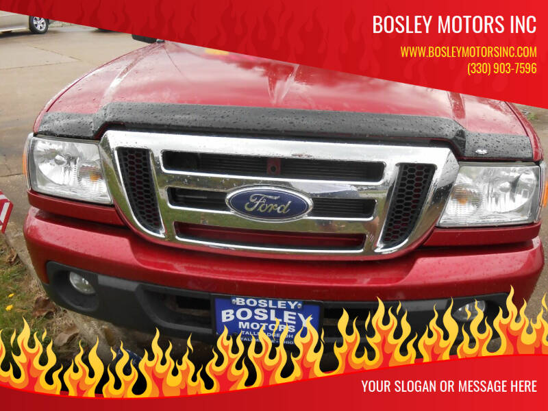 2010 Ford Ranger for sale at BOSLEY MOTORS INC in Tallmadge OH