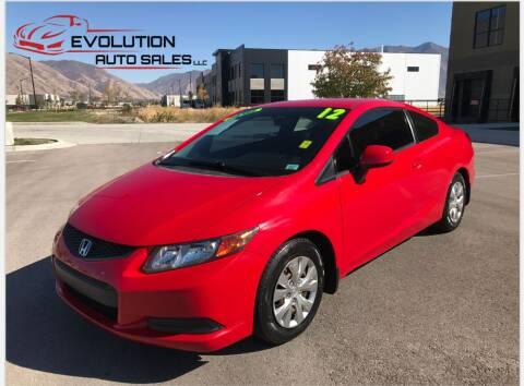 2012 Honda Civic for sale at Evolution Auto Sales LLC in Springville UT