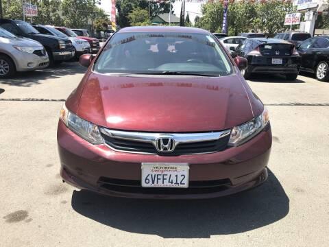 2012 Honda Civic for sale at EXPRESS CREDIT MOTORS in San Jose CA