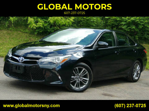 2017 Toyota Camry for sale at GLOBAL MOTORS in Binghamton NY
