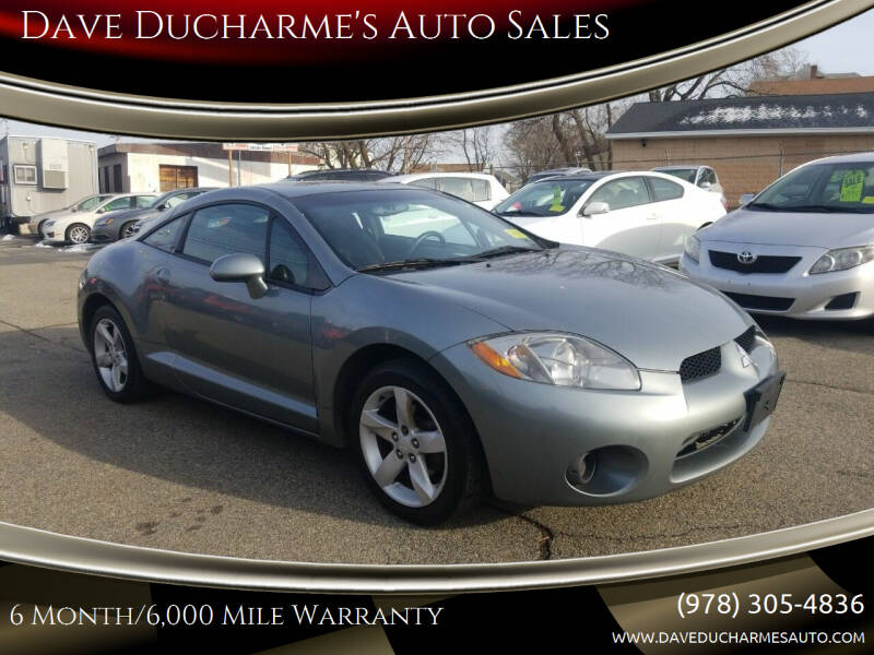 2007 Mitsubishi Eclipse for sale at Dave Ducharme's Auto Sales in Lowell MA