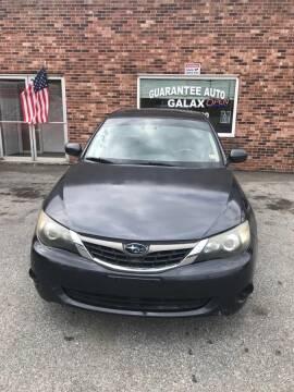 2009 Subaru Impreza for sale at Guarantee Auto Galax in Galax VA