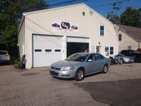 2012 Chevrolet Impala for sale at E & K Automotive in Derry NH