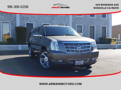 2012 Cadillac Escalade ESV for sale at Armani Motors in Roseville CA